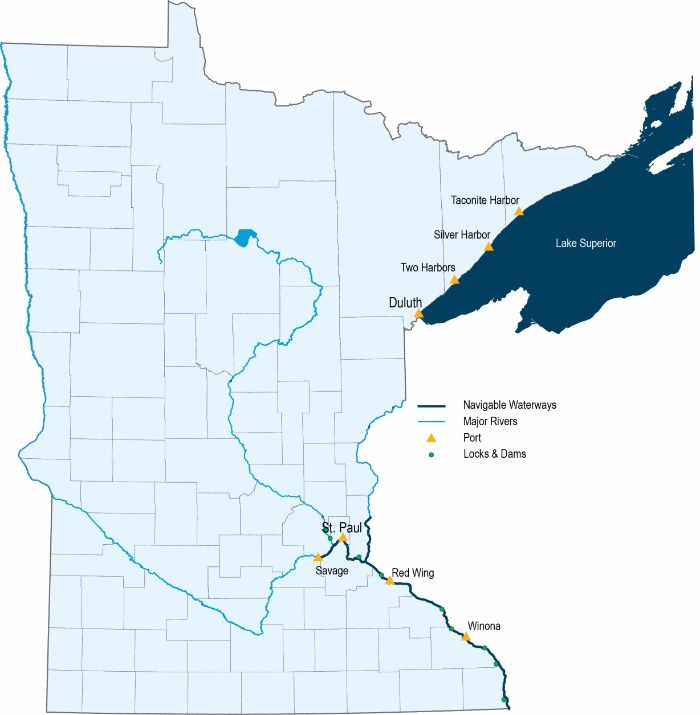 Minnesota's ports and waterway system